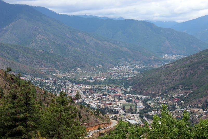 Thimphuvallei in Bhutan stock afbeeldingen
