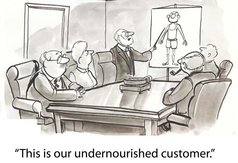 Download Thin customer stock illustration. Image of businessman - 23630710