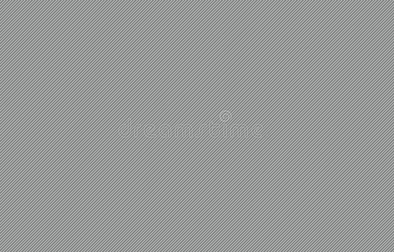 Thin Gray diagonal stripes vector background. Thin diagonal stripes vector for background or template. Grid of straight parallel lines stock illustration