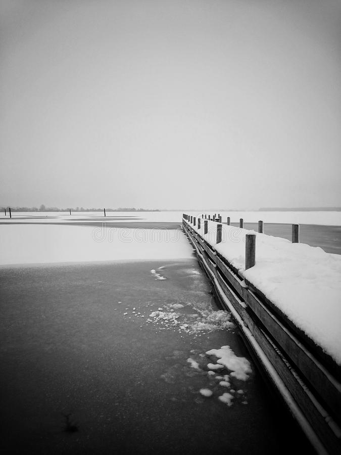On thin ice stock photography