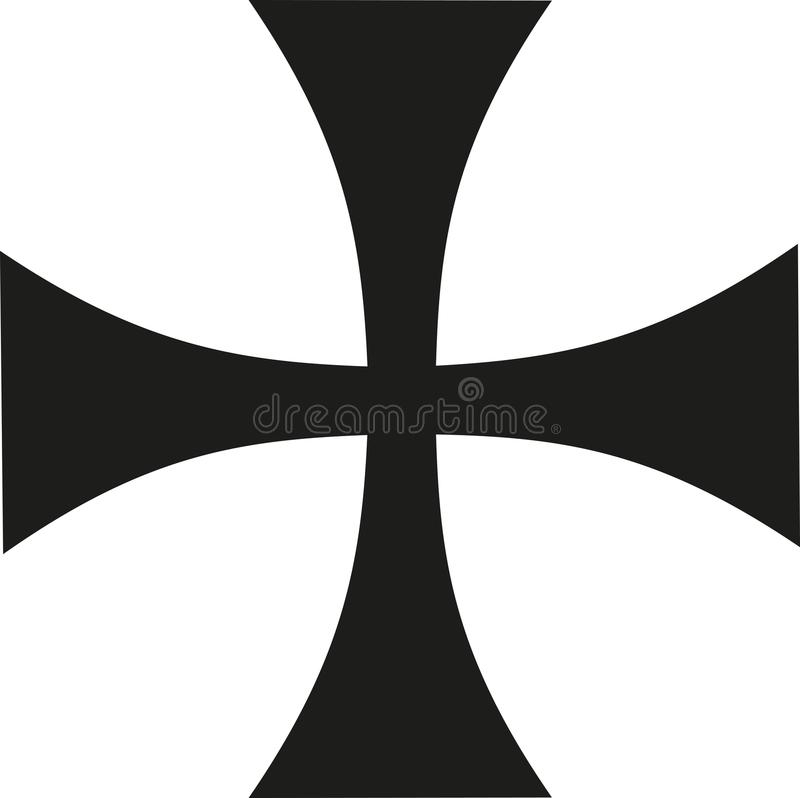 Thin iron cross vector illustration