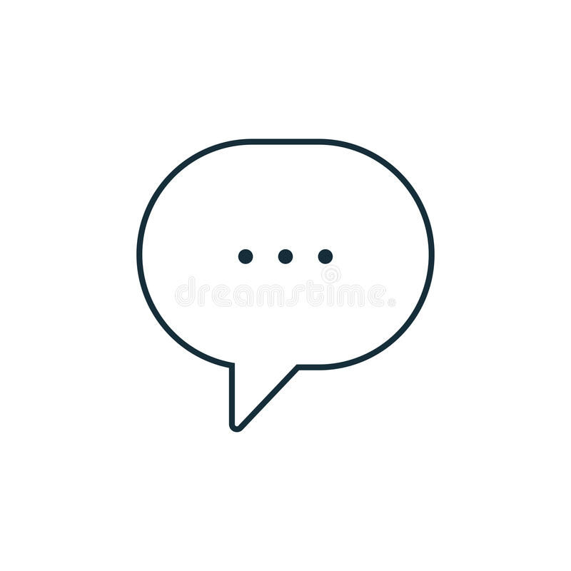 Thin line chat, speech, bubble, chatting icon stock illustration