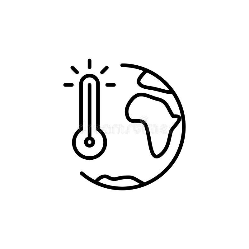 Thin line global warming icon royalty free illustration