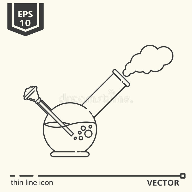 One icon - Bong vector illustration