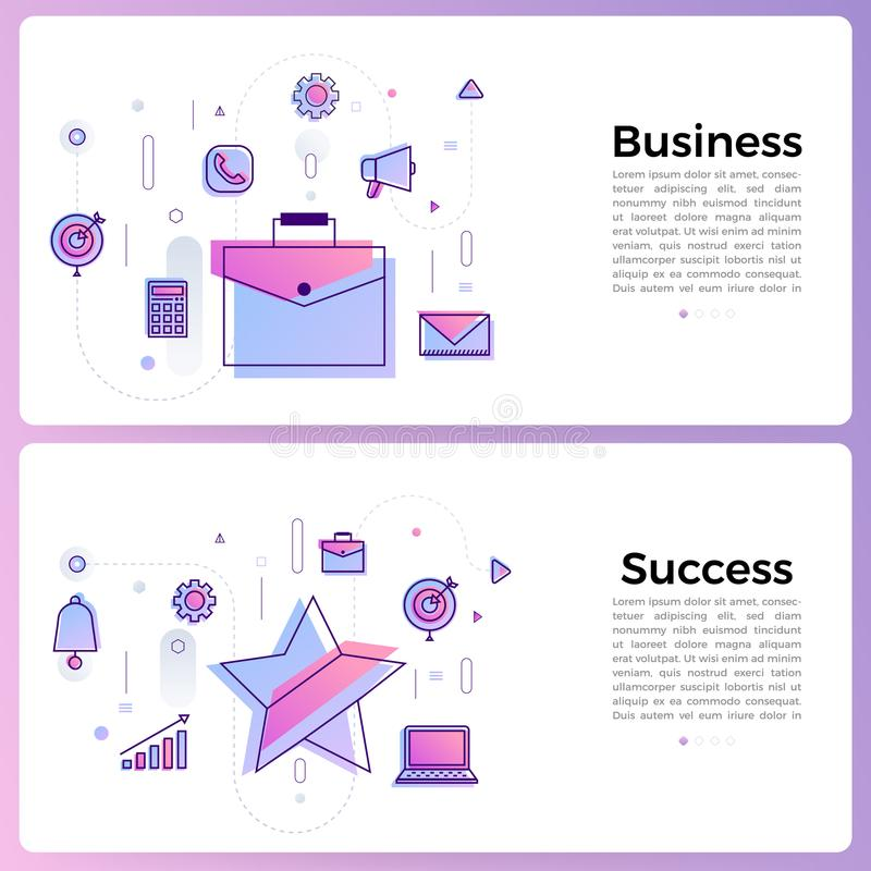 "Thin line icon layout design flat design concept """". Vector stock illustration"