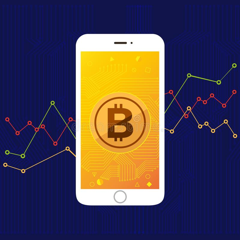 "Thin line icon layout design flat design concept ""bitcoin"". stock illustration"