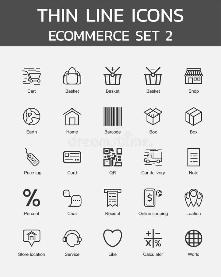 Free Thin Line Icons Ecommerce Set 2 Royalty Free Stock Image - 155021046