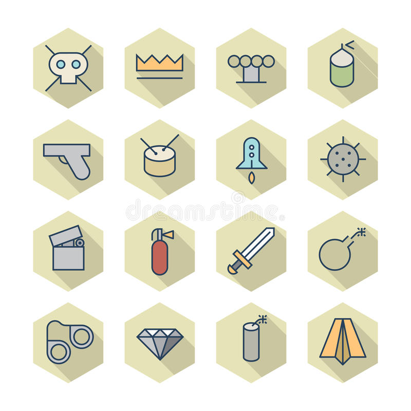 Download Thin Line Icons For Miscellaneous Stock Vector - Illustration of rocket, icons: 39329170