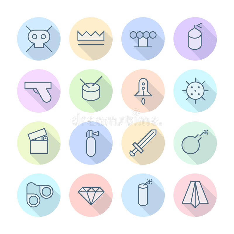Download Thin Line Icons For Miscellaneous Stock Vector - Illustration of danger, design: 39551262