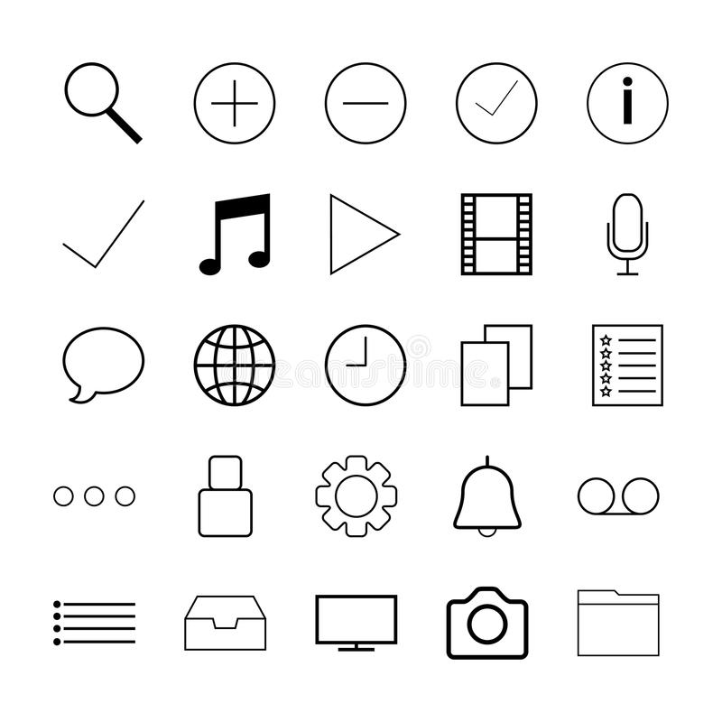 Thin line icons for Web royalty free illustration