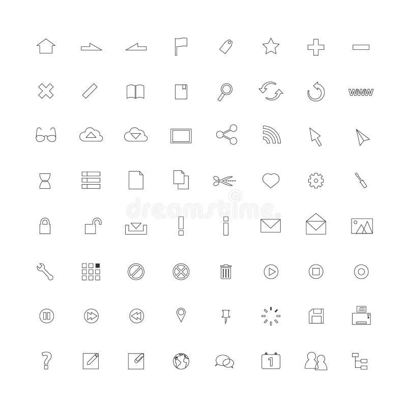 Thin line icons royalty free illustration