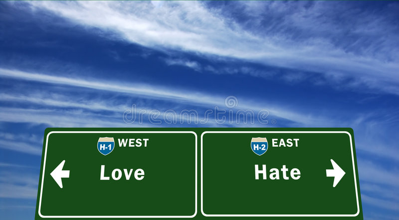 Thin Line between love and hate stock images