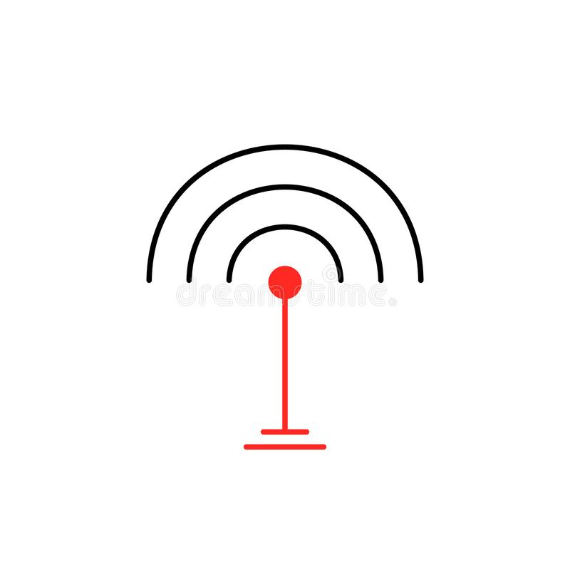 Thin line wifi signal icon isolated on white vector illustration