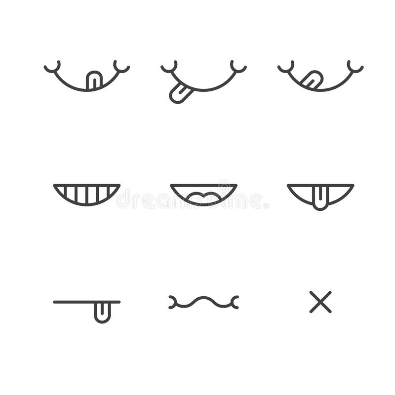 Thin line yummy icons concept of taste royalty free illustration
