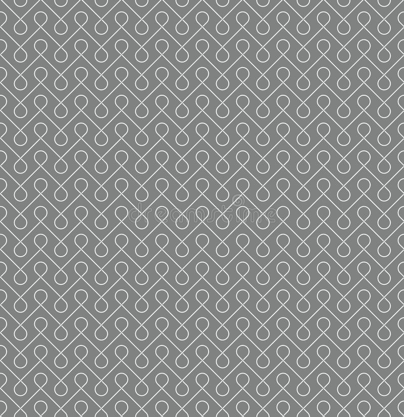 Thin linear seamless patern background. White and gray colors vector illustration
