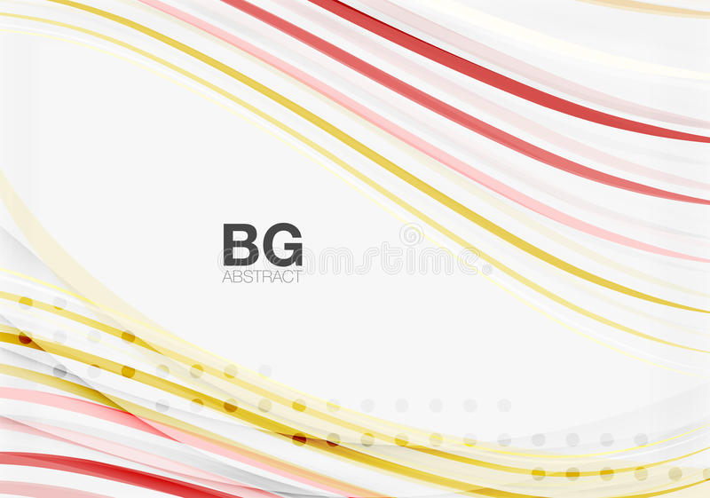 Thin lines wave abstract background. Vector template background for workflow layout, diagram, number options or web design vector illustration