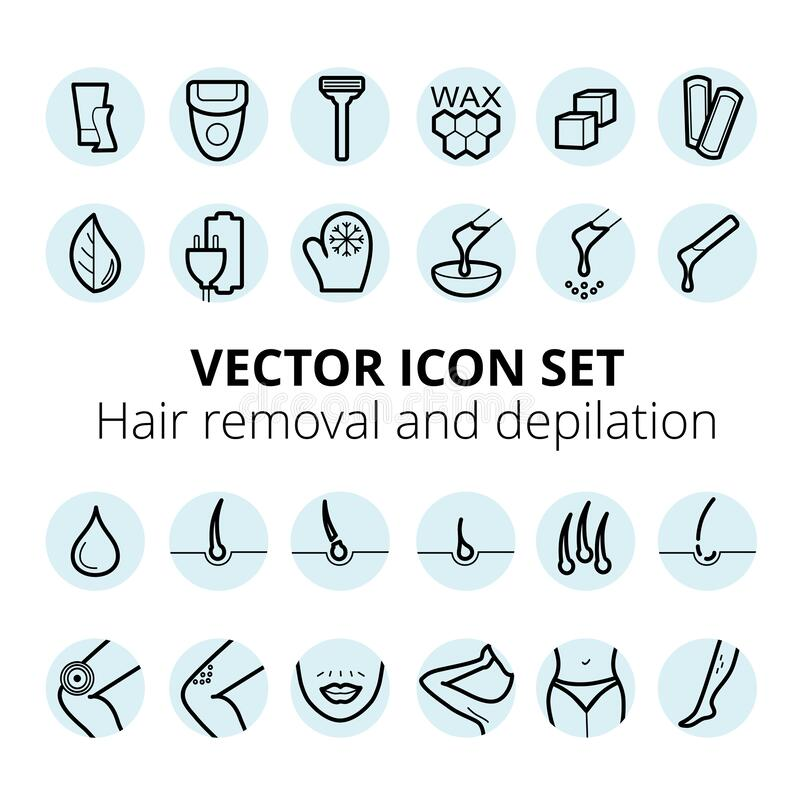 Waxing Hair Stock Illustrations 1 163 Waxing Hair Stock