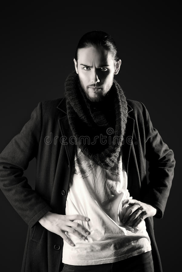 Thin male royalty free stock photography