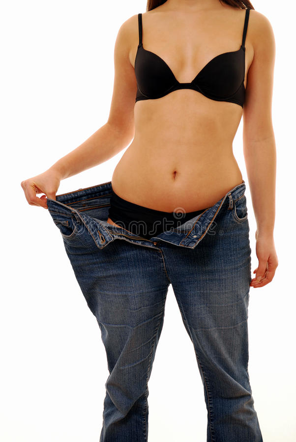 Thin person royalty free stock image