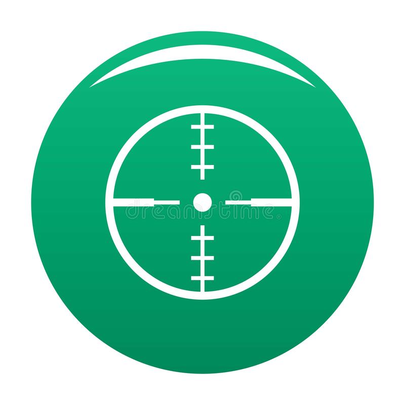 Thing radar icon green. Thing radar icon. Simple illustration of thing radar icon for any design green royalty free illustration