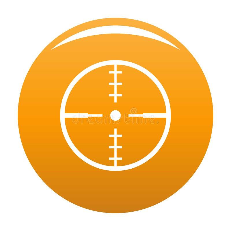 Thing radar icon orange. Thing radar icon. Simple illustration of thing radar icon for any design orange stock illustration
