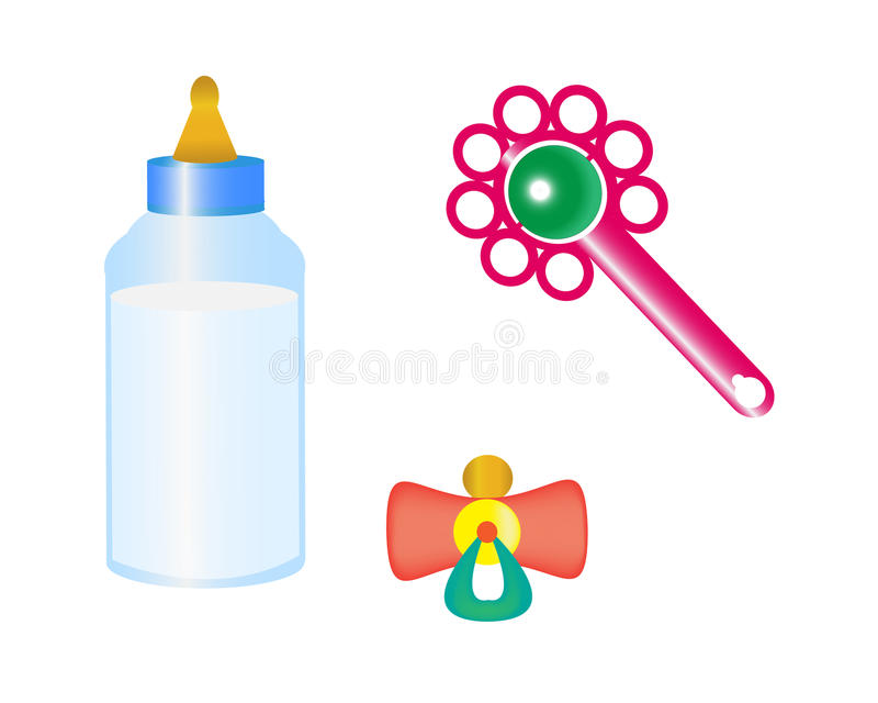 Download Things for the baby stock vector. Image of newborn, painting - 24448337