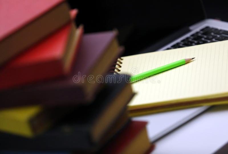 Things neccessary for hard working time. Things neccessary for student, bussiness people, hard working stock photo