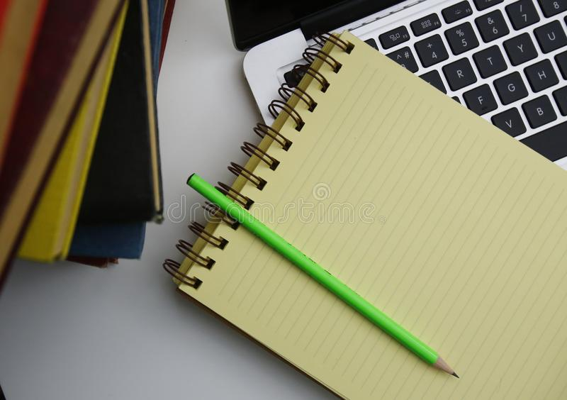 Things neccessary for hard working time. Things neccessary for student, bussiness people, hard working royalty free stock photos