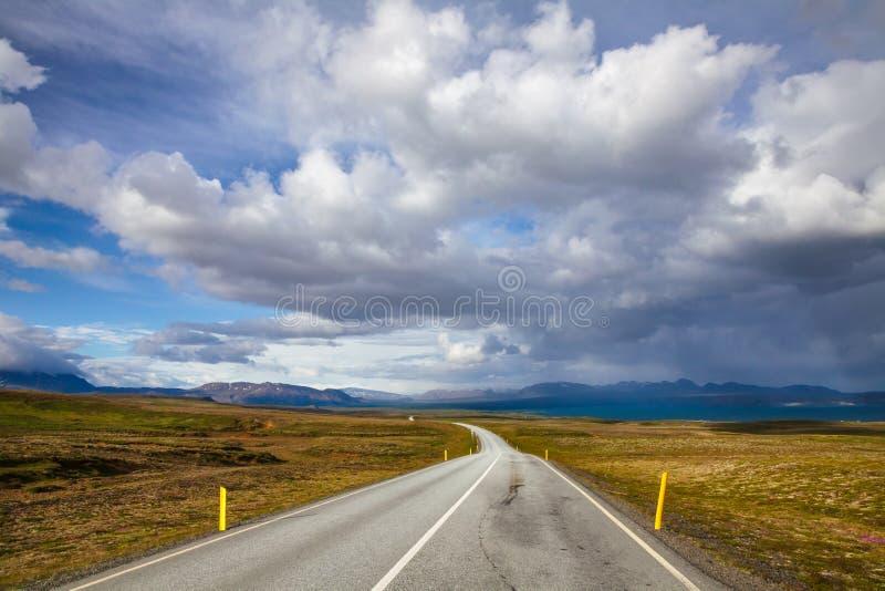Thingvallavegur Route 36 road through Thingvellir national park Iceland Scandinavia royalty free stock images