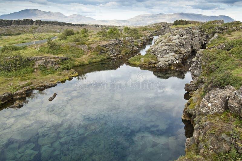 thingvellir национального парка Исландии стоковые фото