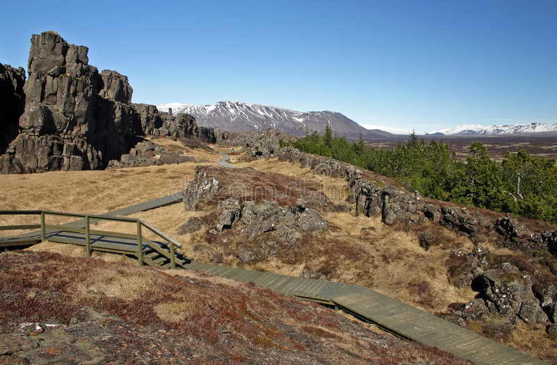 Download Thingvellir stock image. Image of spring, cold, wooden - 1700381