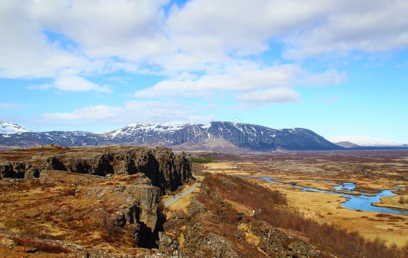 Thingvellir стоковые фотографии rf