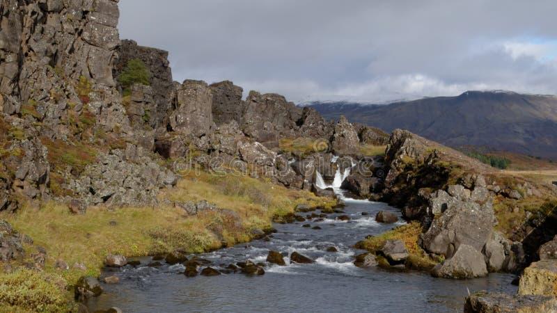Thingvellir Islanda fotografia stock