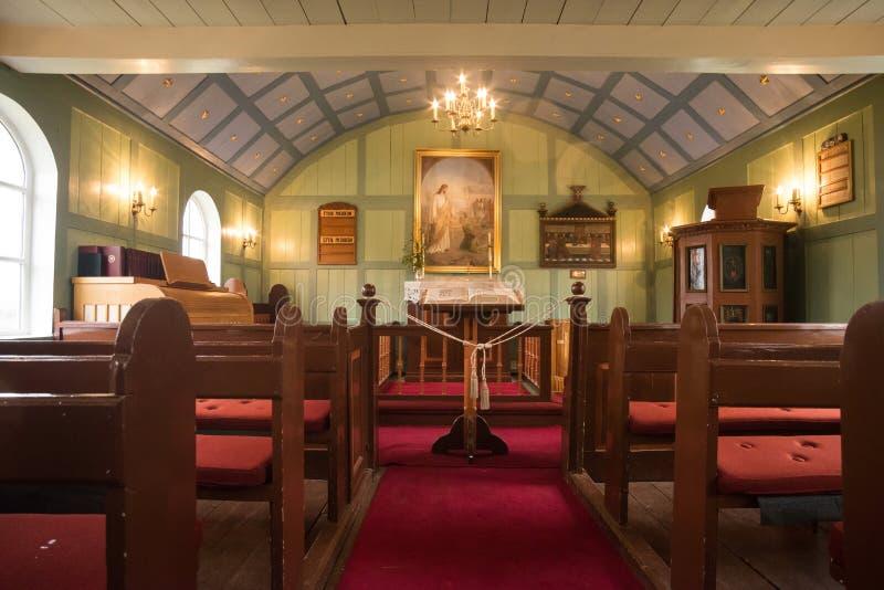 Thingvellir-Kirche lizenzfreie stockfotografie
