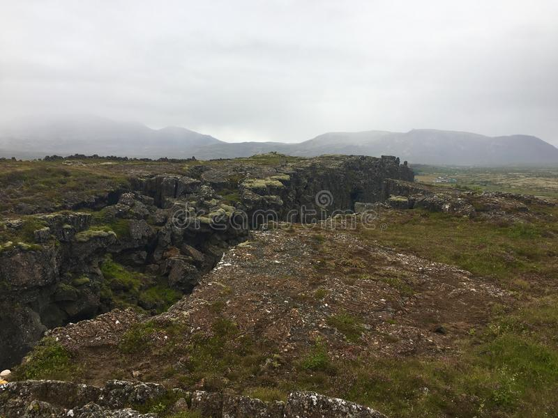 Thingvellir royaltyfria bilder