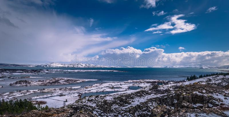 Thingvellir - May 03, 2018: Panorama of Thingvellir National Park, Iceland royalty free stock photo