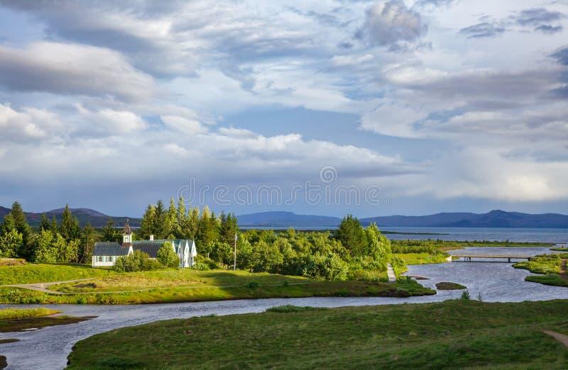 Thingvellir national park Golden Circle Tourist Route Iceland Scandinavia royalty free stock photo