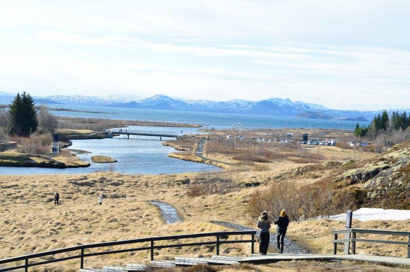 Thingvellir national park, iceland on a sunny day royalty free stock photo