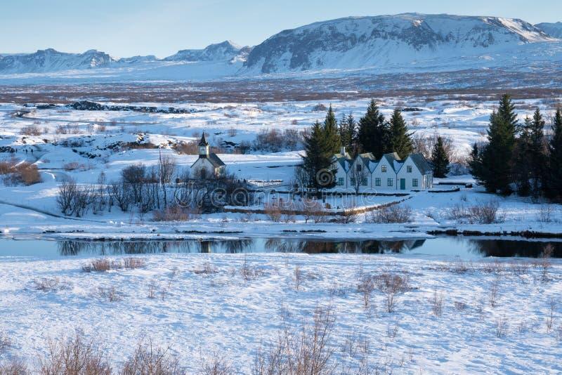 Thingvellir nationalpark, Island, Europa royaltyfri bild