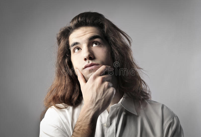 Download Think stock photo. Image of think, bored, portrait, caucasian - 23581786