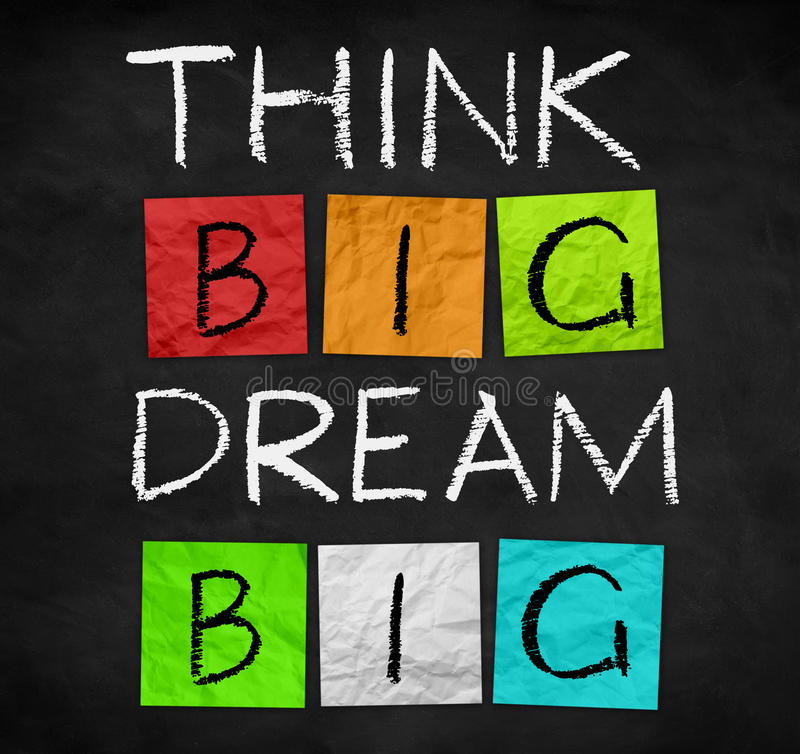 Free Think Big - Dream Big Royalty Free Stock Photography - 59664327