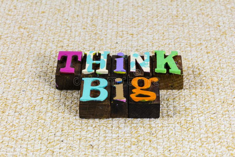 Think big idea success business design creative positive thinking attitude royalty free stock photo