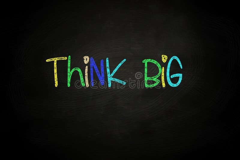 Think Big stock illustration