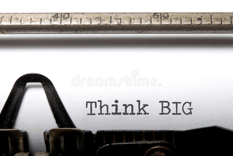 Download Think Big stock photo. Image of antique, motivational - 31289074