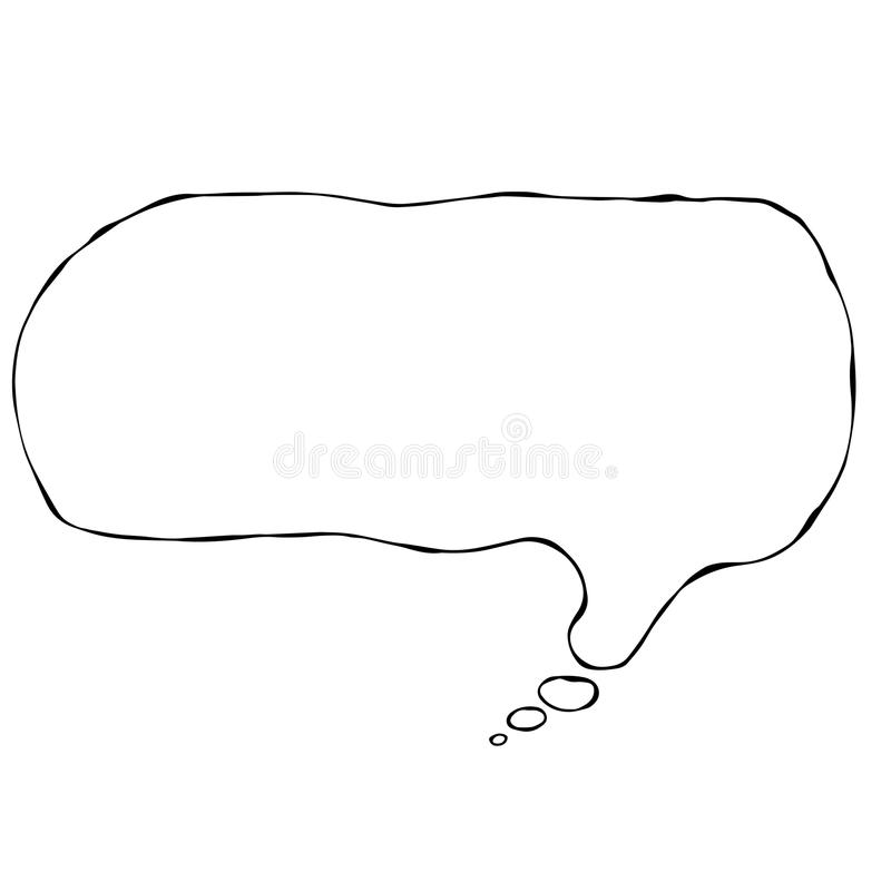 Think Bubble Icon Vector Illustraition. Vector Illustraition Think Bubble Icon stock illustration