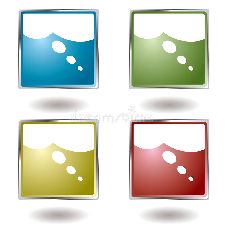Download Think button stock illustration. Image of modern, metal - 5632407