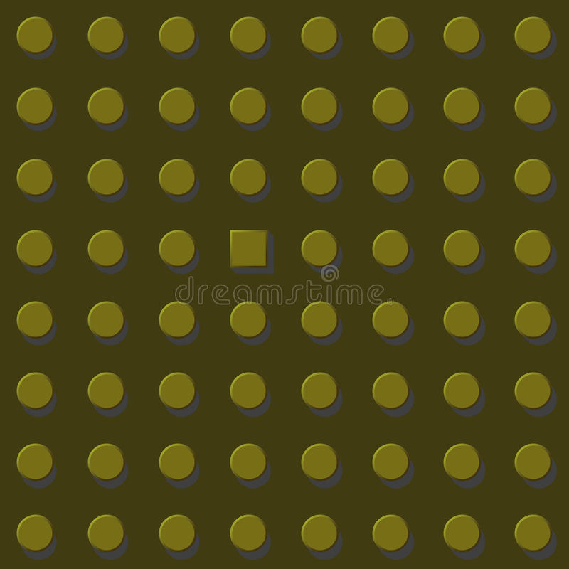 Think differen график иллюстрации eps10 вектора, желтый цвет золота Свобода и избегает концепция системы иллюстрация вектора