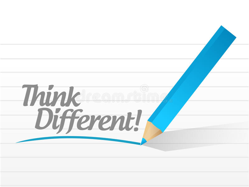 Think different message illustration design royalty free illustration