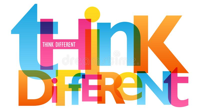 THINK DIFFERENT typography poster stock illustration