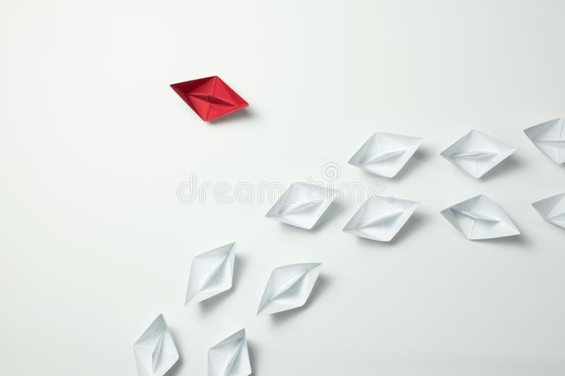 Think differently leader for innovation and creativitity concept royalty free stock images